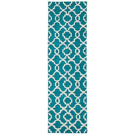 Kaleen Revolution REV03-91 Teal Wool Area Rug