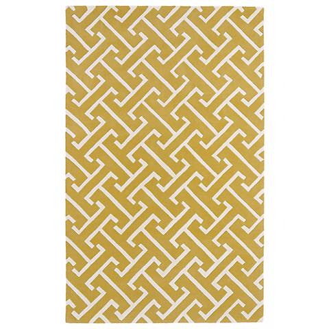 Kaleen Revolution REV04-28 Yellow Wool Area Rug