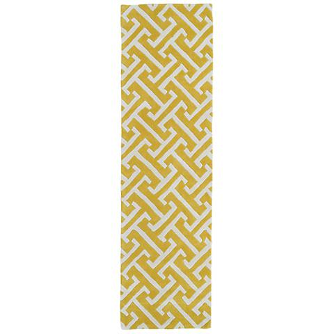 Kaleen Revolution REV04-28 Yellow Wool Area Rug
