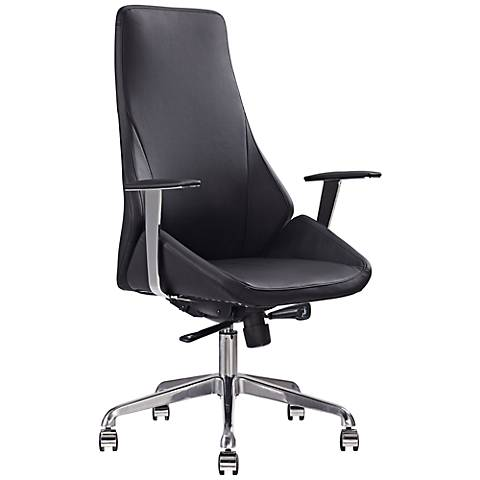 Natasha Executive Black Faux Leather Office Chair