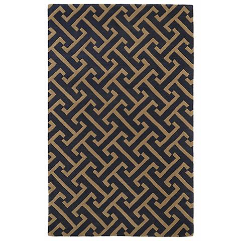 Kaleen Revolution REV04-38 Charcoal Wool Area Rug