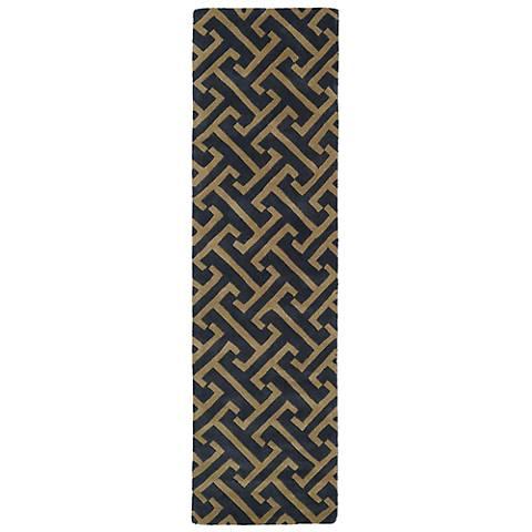 Kaleen Revolution REV04-38 Charcoal Wool Area Rug