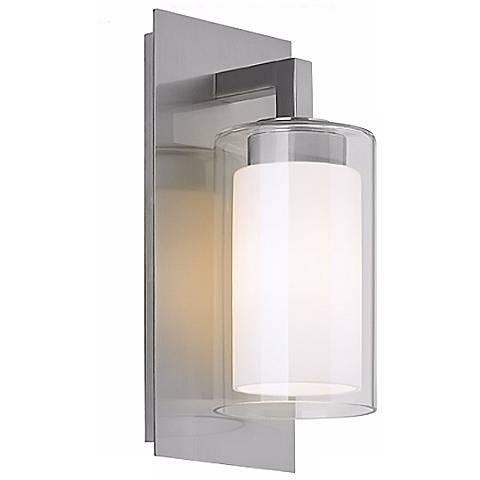 """Feiss Salinger 12"""" High Double Glass Outdoor Wall Light"""