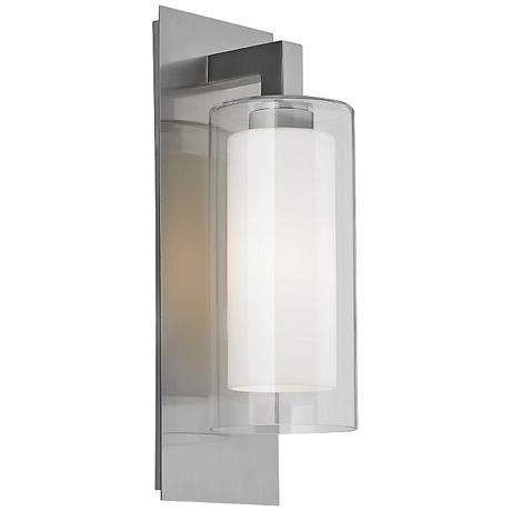 """Feiss Salinger 20"""" High Double Glass Outdoor Wall Light"""