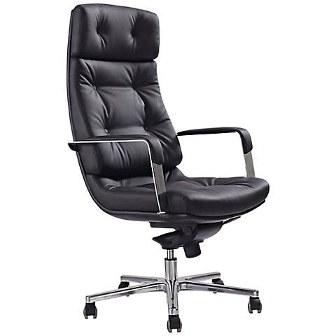 Princeton Executive Black Faux Leather Office Chair