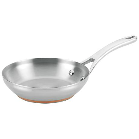"Anolon Nouvelle Copper Stainless Steel 8"" French Skillet"