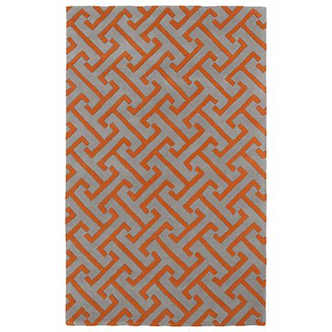 Kaleen Revolution REV04-75 Gray Wool Area Rug
