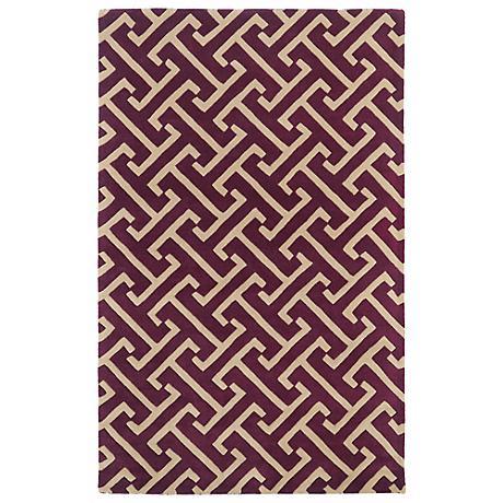 Kaleen Revolution REV04-87 Plum Wool Area Rug