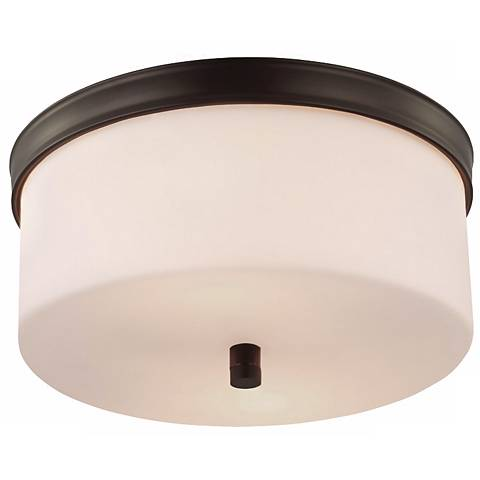 "Feiss Lismore 13 1/4"" Wide Rubbed Bronze Ceiling Light"