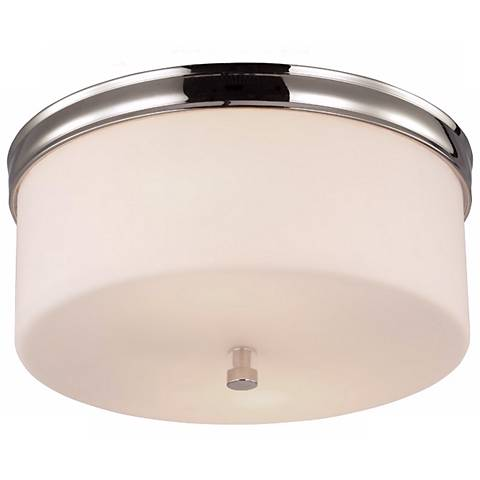 "Feiss Lismore 13 1/4"" Wide Polished Nickel Ceiling Light"