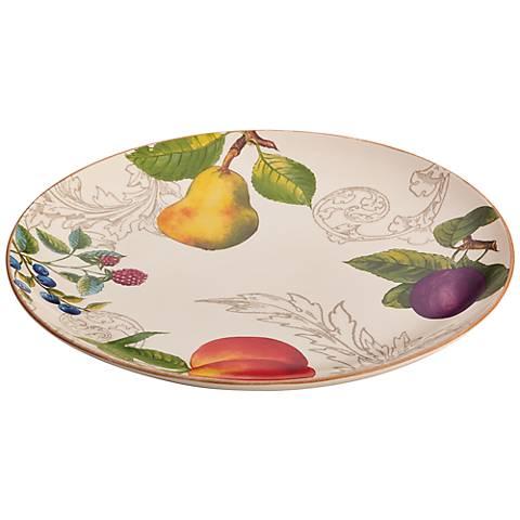 BonJour Dinnerware Orchard Harvest 12-Inch Round Platter
