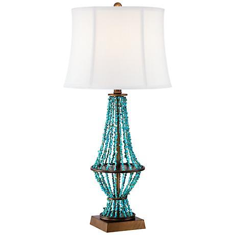 Barth Blue Stone Table Lamp