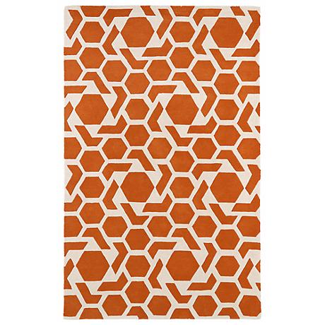 Kaleen Revolution REV05-89 Orange Wool Area Rug