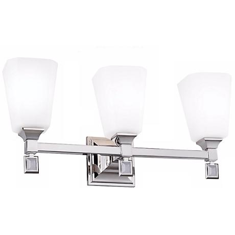 """Feiss Sophie 21 1/2"""" Wide Polished Nickel Bath Light"""