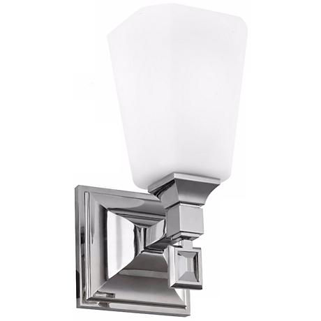 """Feiss Sophie 9 1/2"""" High Brushed Steel Wall Sconce"""