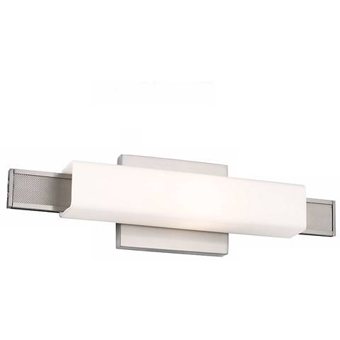 "Feiss Talia 16 3/4"" Wide Brushed Steel Wall Sconce"