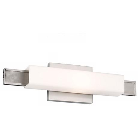"""Feiss Talia 16 3/4"""" Wide Brushed Steel Wall Sconce"""