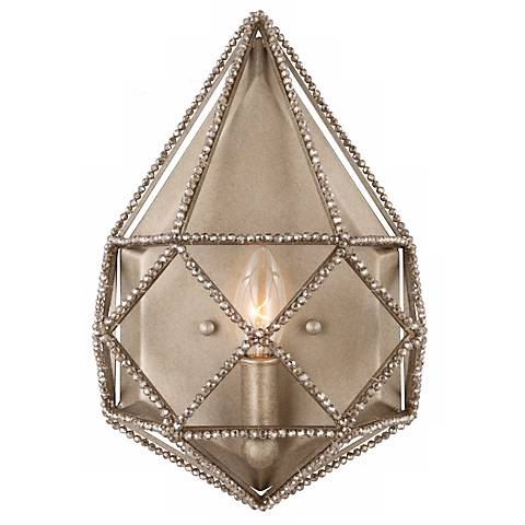 "Feiss Marquise 13 1/2"" High Crystal Silver Wall Sconce"
