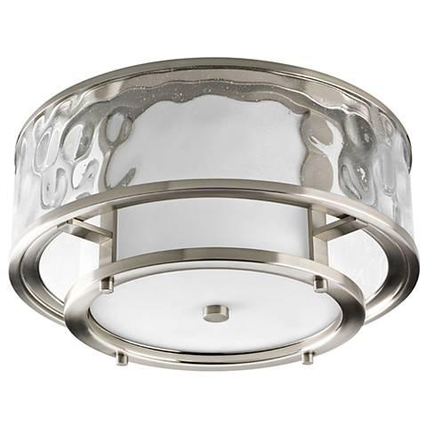 "Progress Lighting Bay Court 15""W Water Glass Ceiling Light"