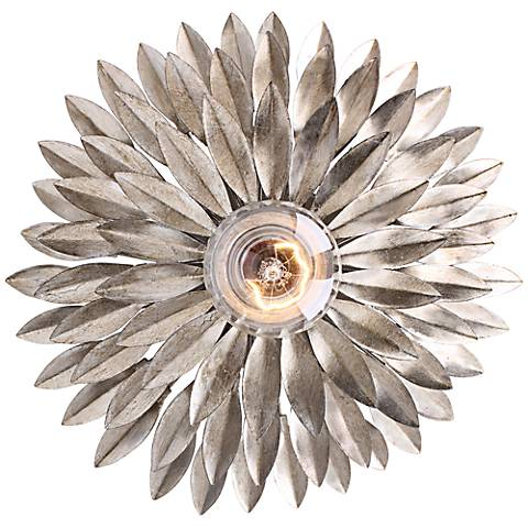 "Crystorama Broche 11"" High Silver Sconce"