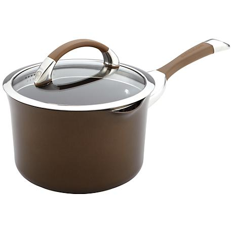 Circulon Symmetry 3.5-Qt Chocolate Straining Saucepan