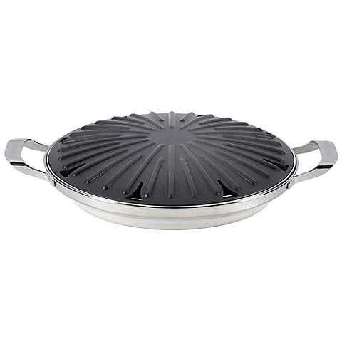 "Circulon Hard Anodized Nonstick 12"" Round Stovetop Grill"