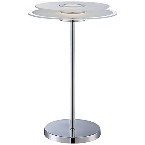Lite Source Zsoka Chrome and Glass LED Desk Lamp