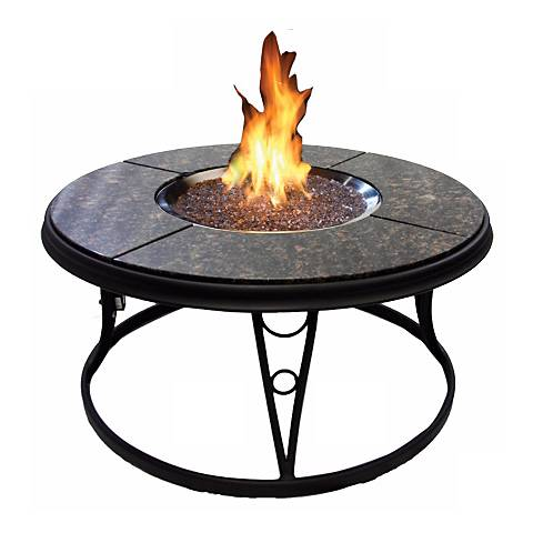 """Carmela 42"""" Round Chat Outdoor Fire Pit Table"""