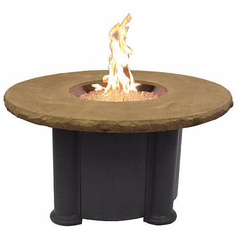 "Grainger 48"" Round Crystal Outdoor Fire Table"