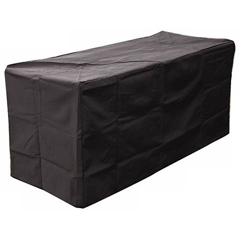 "Key Largo Black Vinyl 54"" Rectangular Fire Pit Cover"
