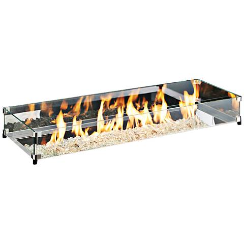 "Crystal Fire Burner 12"" x 42"" Glass Guard Fencing"