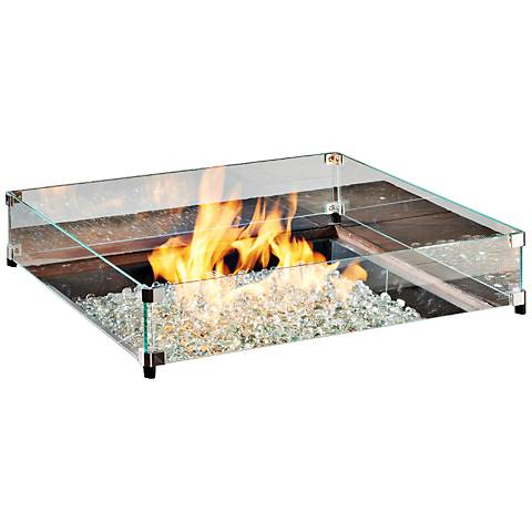"Crystal Fire Burner 20"" or 24x24"" Glass Guard Fencing"