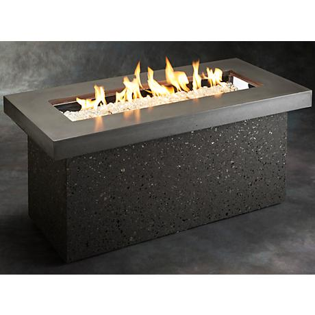 Key Largo Crystal Fire Pit with Midnight Mist Supercast Top