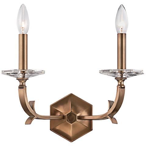 "Crystorama Hugo 10 1/2"" High 2-Light Bronze Sconce"