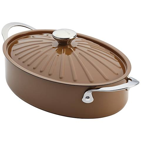Rachael Ray Cucina Oven-To-Table 5-Quart Brown Sauteuse