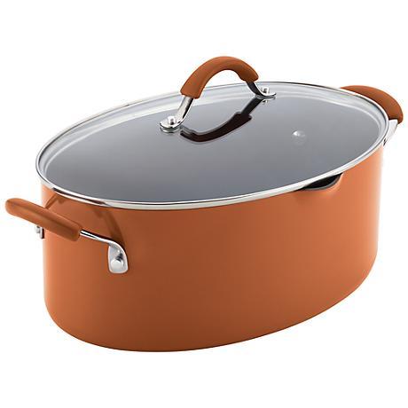 Rachael Ray Cucina 8-Quart Orange Pasta Pot