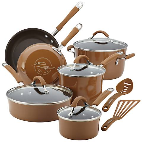 Rachael Ray Cucina 12-Piece Brown Cookware Set