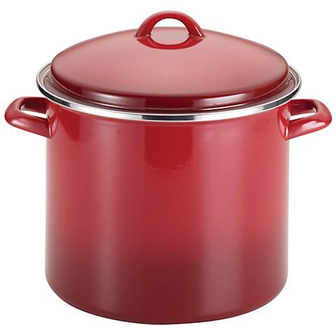 Rachael Ray Enamel on Steel 12-Quart Covered Stockpot