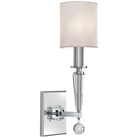"Crystorama Paxton 17"" High Nickel Sconce"