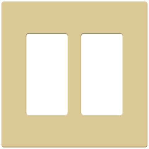Double Screwless Snap-On Faceplate-Ivory