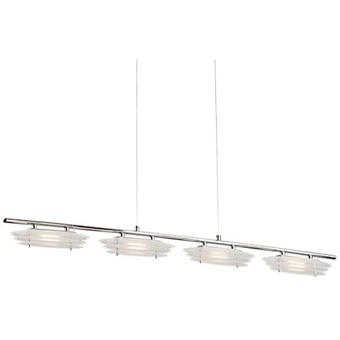 """Possini Euro Coffelt 39 1/2"""" Wide Glass LED Island Pendant"""