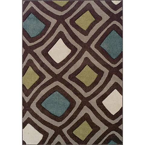 Dalyn Radiance RD769 Chocolate Area Rug