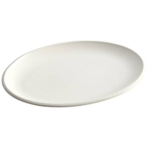 "Rachael Ray Rise 9""x13"" White Oval Platter"