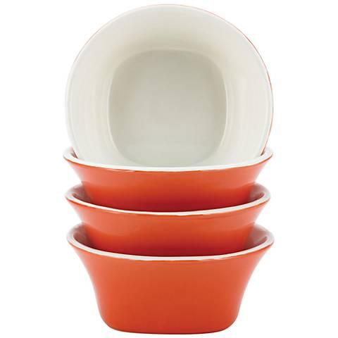 Rachael Ray Dinnerware 4-Piece Orange Fruit Bowl Set