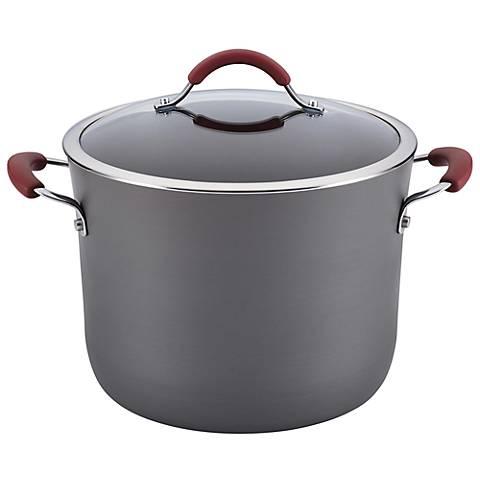 Rachael Ray Cucina Hard-Anodized 10-Quart Red Stockpot