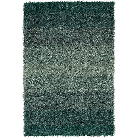 Dalyn Spectrum SM100 Teal Shag Rug