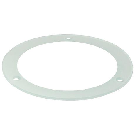 """Nora 4"""" Tempered Frosted - Clear Glass Recessed Light Trim"""