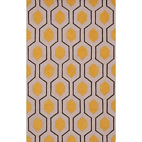 Dalyn Tones TN1 Silver and Yellow Wool Area Rug
