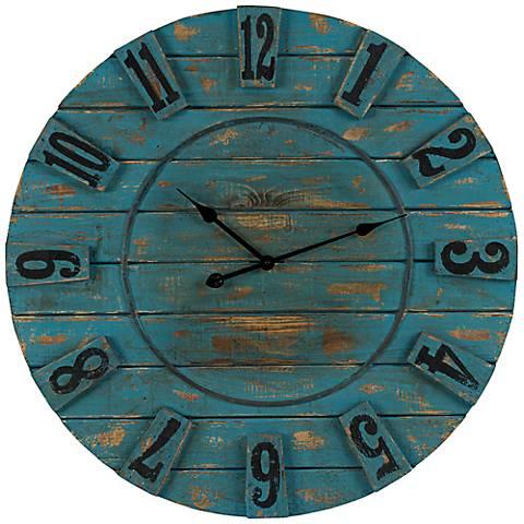 "Cooper Classics Schell 33 1/2"" Round Wall Clock"