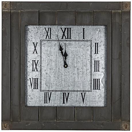 """Cooper Classics Rutledge 23 1/2"""" Square Wall Clock"""
